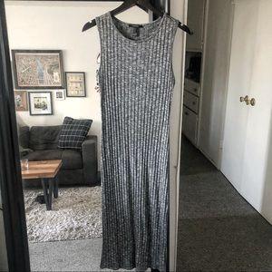 Forever 21 Ribbed Midi Tank Dress